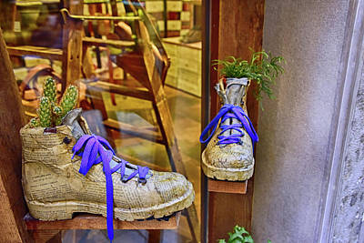 Photograph - Shoe Vases by Roberta Kayne