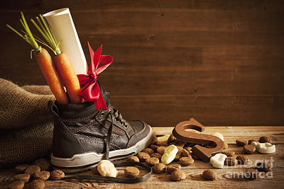 Wish List Photograph - Shoe With Carrots, For Traditional Dutch Holiday 'sinterklaas' by Sara Winter