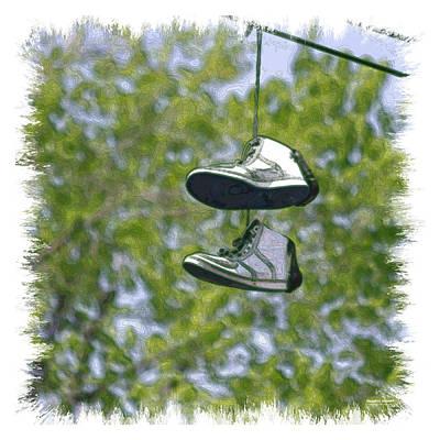 Digital Art - Shoefiti 23625 by Brian Gryphon