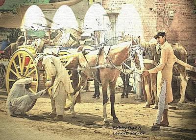 Shoeing The Horse  Art Print