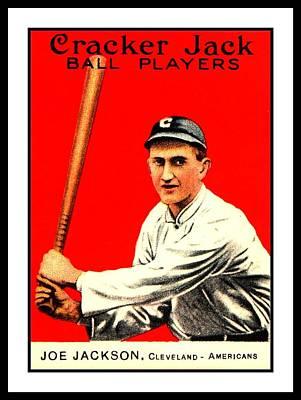 Shoeless Joe Painting - Shoeless Joe Jackson 1915 Cleveland Americans Baseball Card by Peter Gumaer Ogden Collection