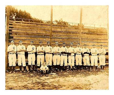 Photograph - Shoeless Joe Jackson Age 19 With His Greenville South Carolina Baseball Team 1908 by Peter Gumaer Ogden
