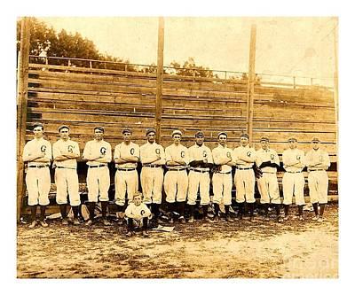 Photograph - Shoeless Joe Jackson Age 19 With His Greenville South Carolina Baseball Team 1908 by Peter Gumaer Ogden
