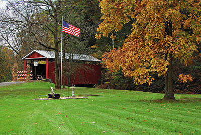 Photograph - Shoemaker Covered Bridge by Ben Prepelka