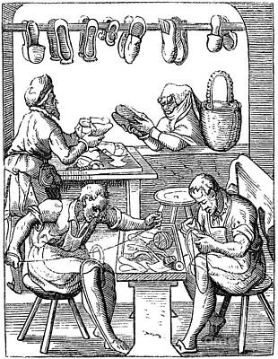 Shoemaker Photograph - Shoemakers, 16th Century by Granger