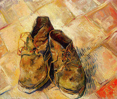 Painting - Shoes                                   by Vincent van Gogh