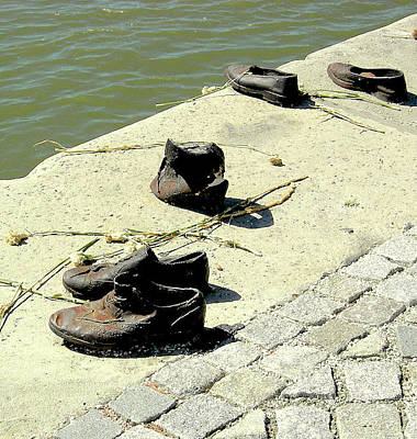 Photograph - Shoes Along The Danube by Caroline Stella