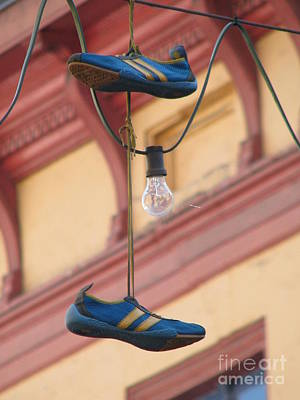 Shoes Hanging Art Print by Jeff White