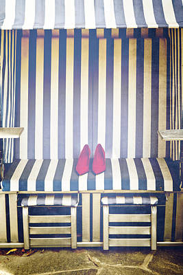 Sexy Couple Photograph - Shoes In A Beach Chair by Joana Kruse