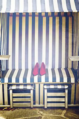 Shoes In A Beach Chair Art Print by Joana Kruse