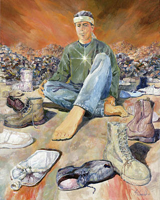 Wall Art - Painting - Shoes by Jim Stilwell