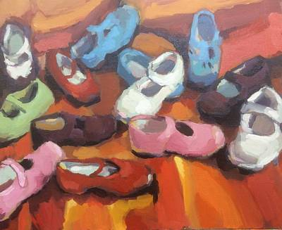 Disorder Painting - Mix Of Shoes by Nelya Pinchuk
