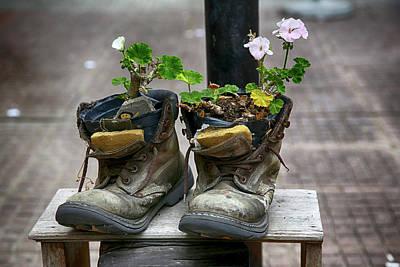 Photograph - Shoes On A Montevideo Street by John Haldane