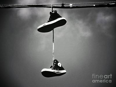 Shoes On A Wire Art Print by Christina Stanley