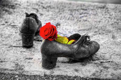 Photograph - Shoes On The Danube River Memorial by David Pyatt