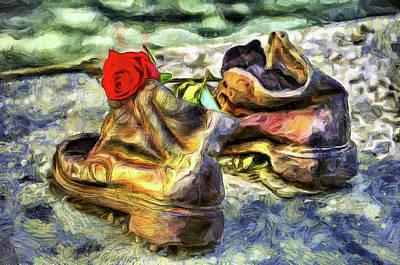 Photograph - Shoes On The Danube Van Gogh by David Pyatt
