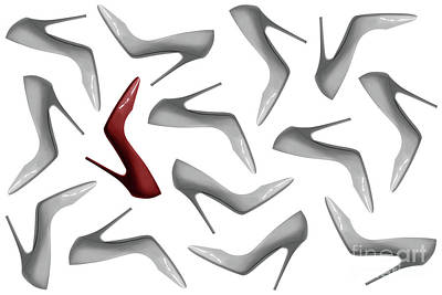 Shoes Pattern Abstract 3 Art Print