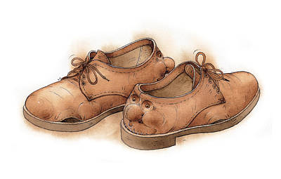 Resting Drawing - Shoes02 by Kestutis Kasparavicius