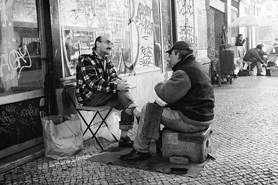 Photograph - Shoeshine And A Chat  by Carlos Caetano