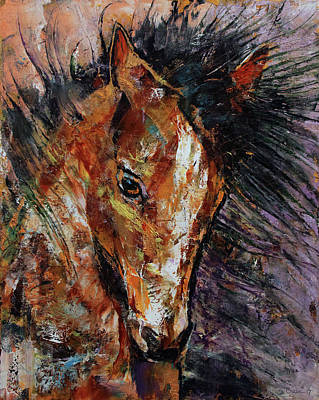 Horse Mane Painting - Shogun Colt by Michael Creese