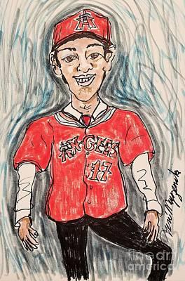 Baseball Players Mixed Media -  Shohei Ohtani Los Angeles Angels by Geraldine Myszenski