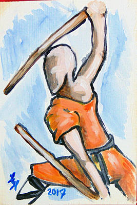 Drawing - Sholin Monk by Loretta Nash