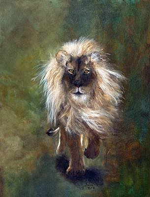 Painting - Shombay The Lion by Barbie Batson