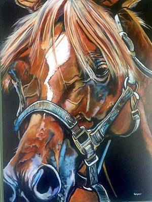 Forelock Painting - Shoo, Fly by Stephanie Come-Ryker