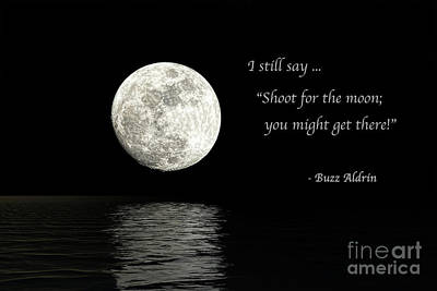Faith Hope And Love Digital Art - Shoot For The Moon by Sharon McConnell