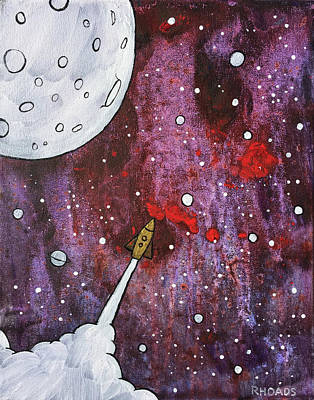 Art Print featuring the painting Shoot For The Stars by Nathan Rhoads