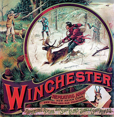 Winchester Painting - Shoot Or You'll Lose Him by Fredrick Remington
