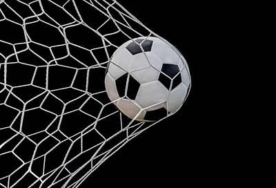 Shoot Soccer Ball In Goal Art Print by Anek Suwannaphoom