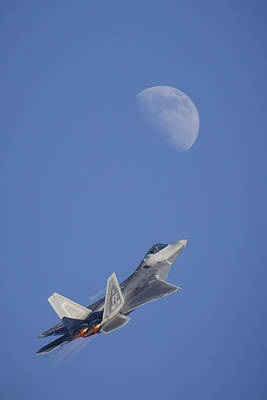 Airshow Flight Photograph - Shoot The Moon by Adam Romanowicz