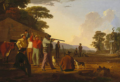 Painting - Shooting For The Beef by George Caleb Bingham