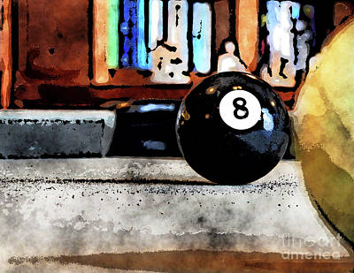 Digital Art - Shooting For The Eight Ball by Phil Perkins