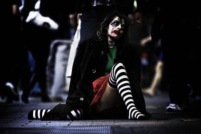 Sad Clown Photograph - Shooting Society 2 by Sean King
