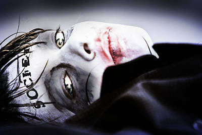 Sad Clown Photograph - Shooting Society 4 by Sean King