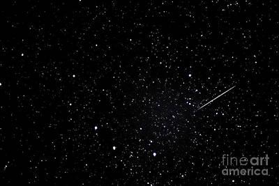 Shooting Star And Big Dipper Art Print by Thomas R Fletcher