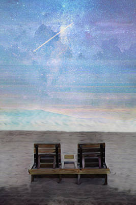 Photograph - Shooting Star By The Sea by Debra and Dave Vanderlaan