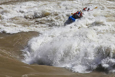 Whitewater Photograph - Shooting The Rapids by Mike Buchheit