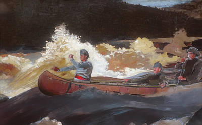 Quebec Painting - Shooting The Rapids - Sagueny River by Mountain Dreams