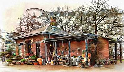 Photograph - Shop At Botanical Gardens Copenhagen by Dorothy Berry-Lound