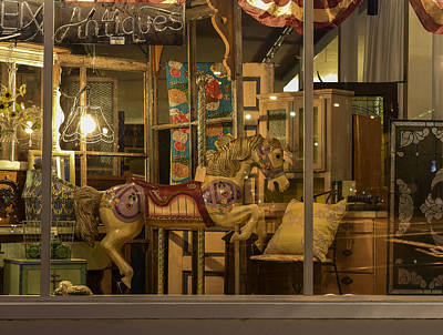 Photograph - Shop Window At Night by Robert Potts