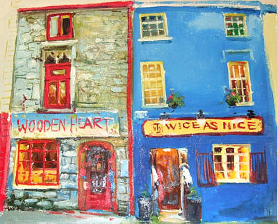 Shopfronts Painting - Shopfronts Galway by Conor McGuire