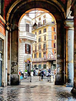 Photograph - Shopping And Architecture In Rome by Dorothy Berry-Lound