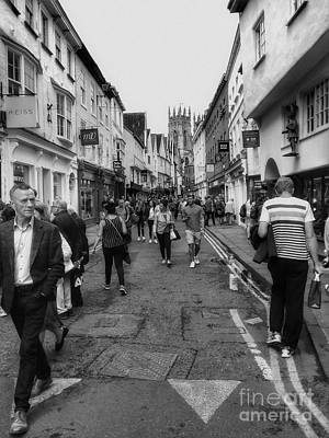 Photograph - Shopping At Petergate York Bw by Joan-Violet Stretch