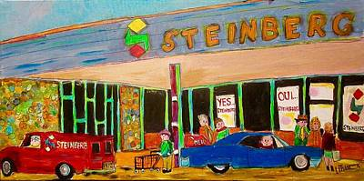 Litvack Painting - Shopping At Steinberg by Michael Litvack