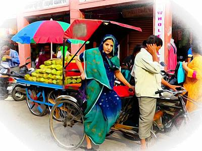 Photograph - Shopping Bazaar Exotic Travel Street Scenes Rajasthan India Series 1a by Sue Jacobi