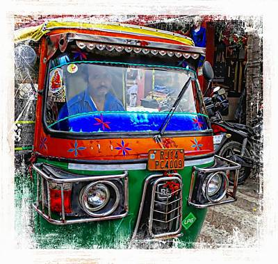Photograph - Shopping Bazaar Exotic Travel Street Scenes Tuk Tuks Rajasthan India Series 3 by Sue Jacobi