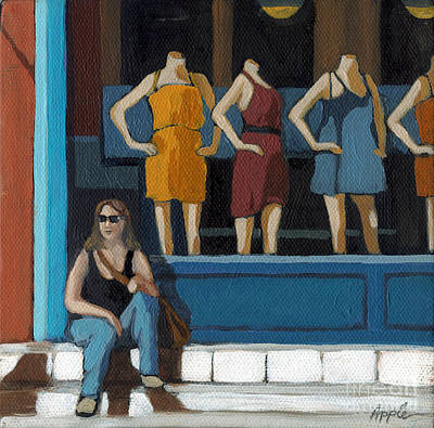 Manikins Painting - Shopping Break by Linda Apple
